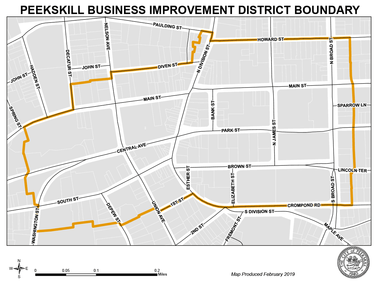 Peekskill Business Improvement District Boundary